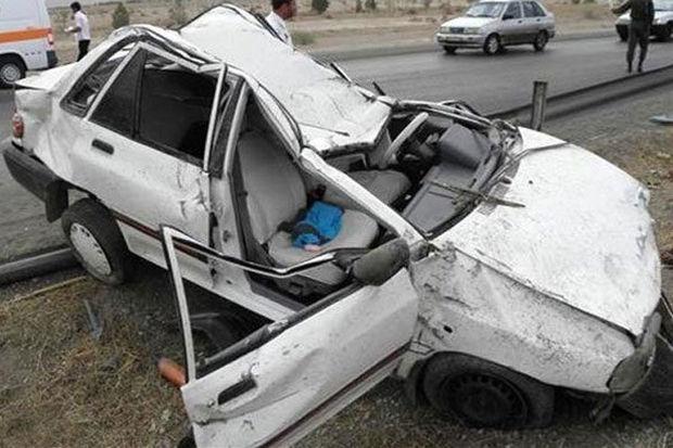 چهار کشته و ۲ مجروح حاصل یک تصادف در جهرم