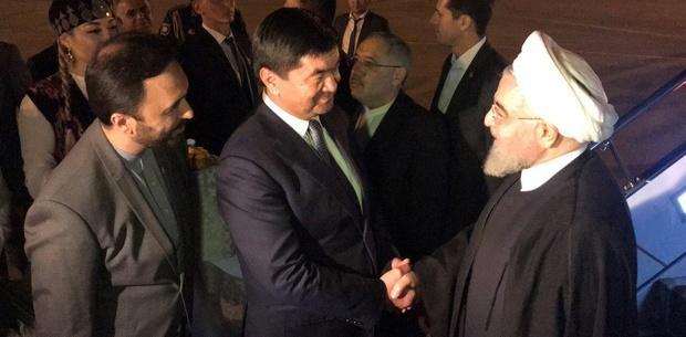 رئیس جمهور وارد قرقیزستان شد
