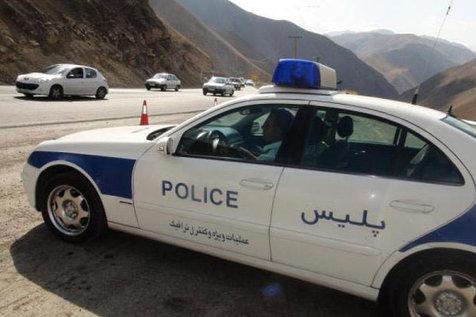 پلیس راهور با خودروهای چراغ چشمک زن برخورد می کند