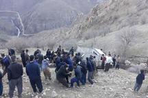 سقوط خودرو تویوتا به دره در سروآباد یک کشته بر جا گذاشت