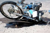 تصادف موتورسیکلت جان دو نفر را گرفت