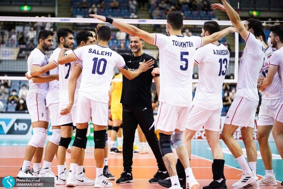 برنامه والیبال ایران در مسابقات قهرمانی جهان 2022