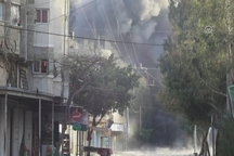 لحظه حمله هوایی اسرائیل به غزه