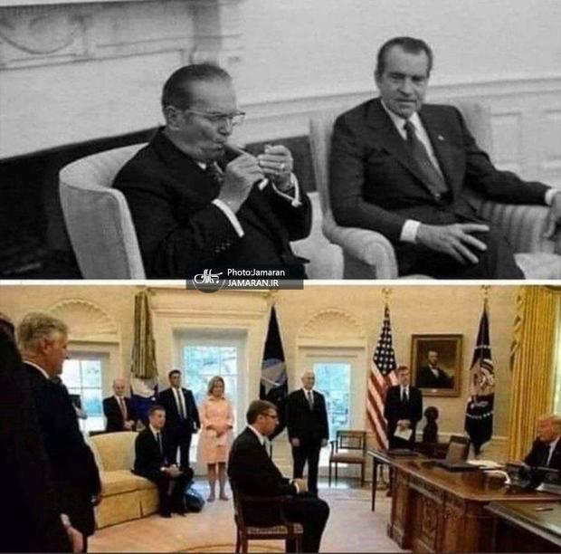 تفاوت معنی دار دو رهبر در برابر آمریکا + عکس
