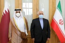دیدار وزیر خارجه قطر با ظریف در تهران