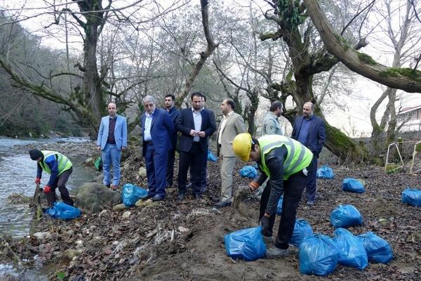 آغاز طرح پاکسازی زباله از رودخانه خالکایی ماسال  اولین مسیر پاک و عاری از زباله کشور