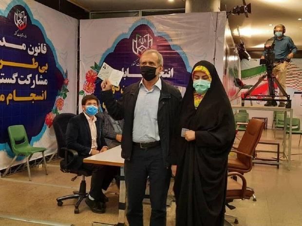 چه کسی در ستاد انتخابات همراه مسعود پزشکیان بود؟ + عکس