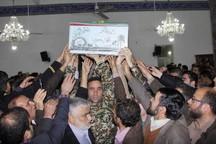 آیین شب وداع با سه شهید گمنام دفاع مقدس در نوشهر برگزار شد