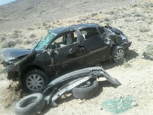 واژگونی خودرو در محور روستایی خرو طبس 2 کشته داشت