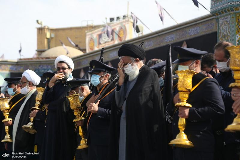 عزاداری خادمین حرم کریمه اهل بیت در روز شهادت امام رضا(ع)