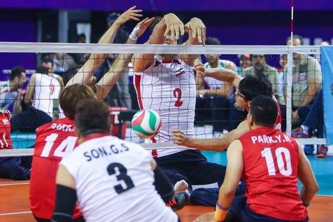 پیروزی تیم والیبال نشسته مردان ایران مقابل کامبوج