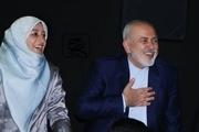 دکتر ظریف و همسرش در مراسم اکران
