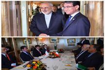 دیدار و گفت و گوی برجامی ظریف با وزیر خارجه ژاپن
