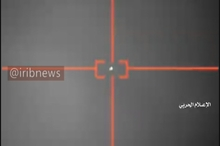لحظه سرنگونی جنگنده جاسوسی سعودی