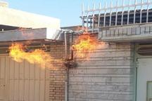 آتش سوزی لوله گاز در خرم آباد مهار شد