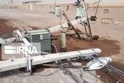 تندباد ۶ میلیارد و ۲۰۰ میلیون ریال به تاسیسات برق آبادان و خرمشهر خسارت زد