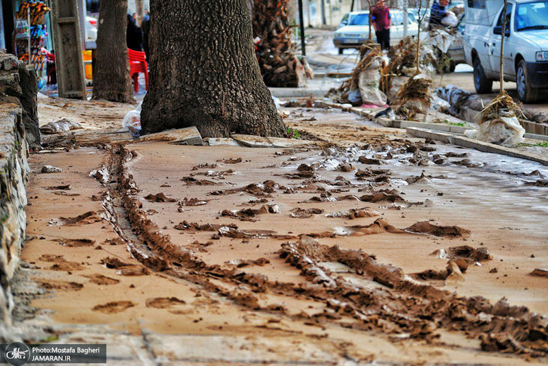 خسارات سیل در خرمآباد