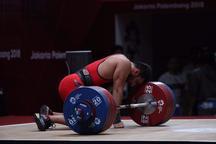 ششمی مجموع براری در رقابت های وزنه برداری قهرمانی جهان
