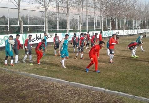 تمرین تیم ملی امید در مجموعه پِک