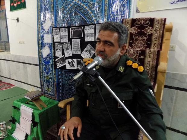 یادواره شهدای حادثه تروریستی خاش-زاهدان در نوک آباد برگزار شد