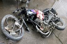 راکب موتورسیکلت بر اثر برخورد با خودرو فوت کرد