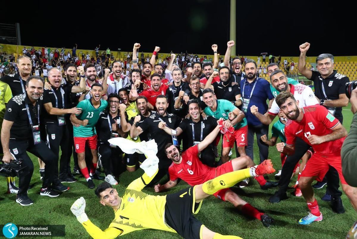 گزارش تصویری| جشن ایران در خاک امارات با مشت گره کرده اسکوچیچ به سبک کی روش!