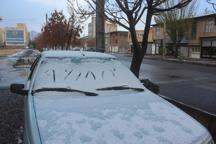 نخستین برف پاییزی خلخال را سفید پوش کرد