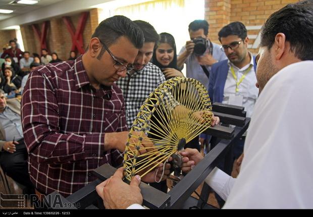 مسابقات سازه های ماکارونی در کرمانشاه برگزار شد