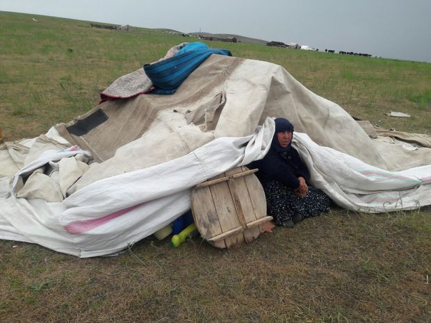 سیل به ۱۰۳ چادر عشایر ماکو خسارت زد