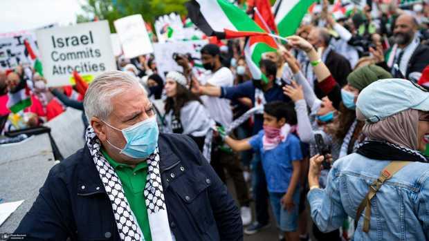 عکس/ تظاهرات ضدصهیونیستی مردم آمریکا