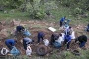 جمع آوری یک تن زباله از دره فرحزاد