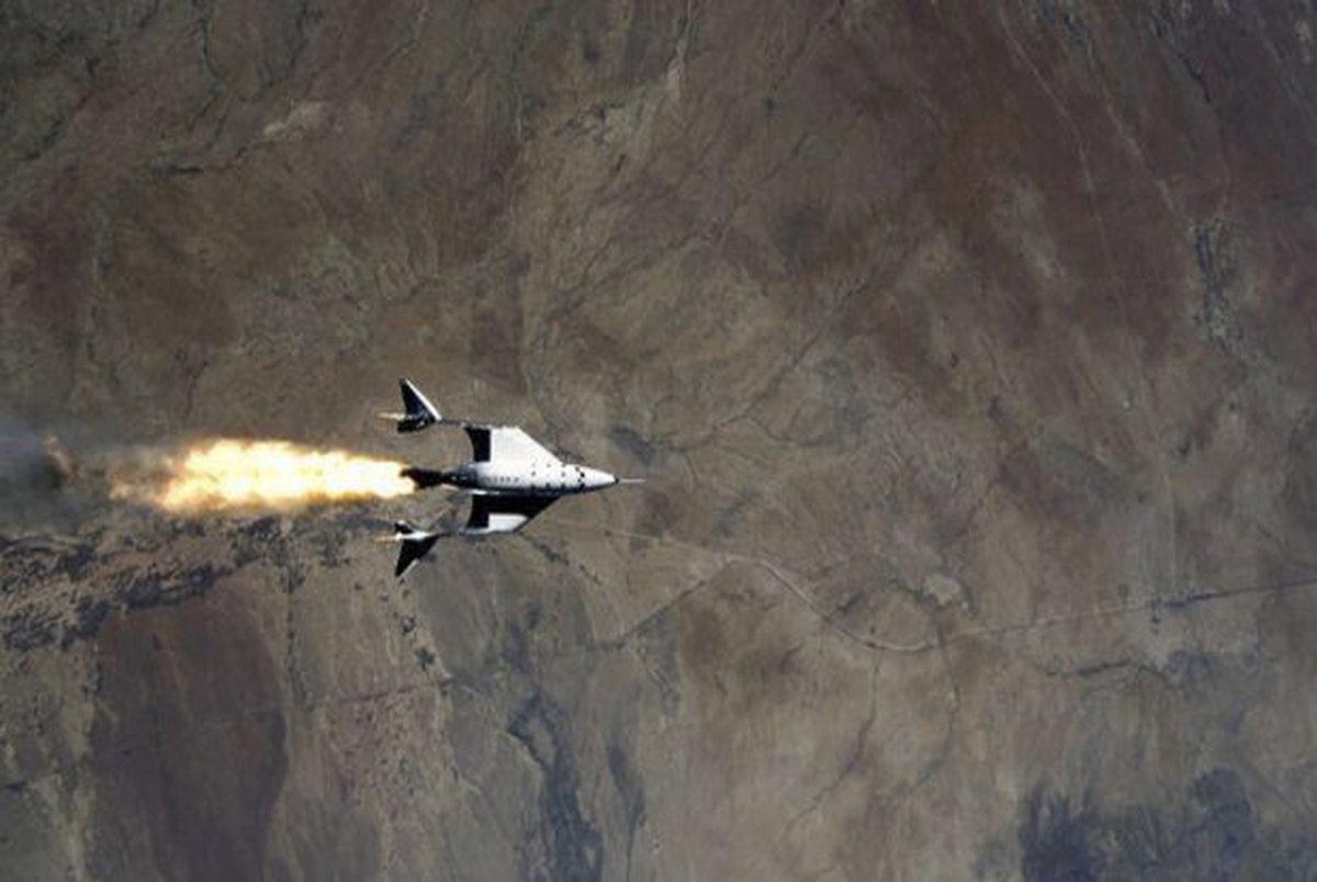 فضاپیمای موشکی ویرجین گالاکتیک به ارتفاع ۸۹ کیلومتری زمین رفت