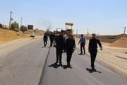 عملیات آسفالت محور تکاب - بیجار آغاز شد