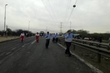 ۹ کشته و زخمی در انفجار خط گاز منطقه برومی اهواز  آتش سوزی چند خودروی عبوری