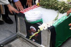 مراسم تشییع جانباز سرافراز حجت الاسلام و المسلمین اقبالیان