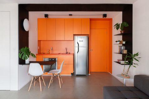 آشنایی با آشپزخانه های تک رنگ