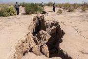 کمبود آب منجر به شکافهای عمیق زمین در بویین زهرا شده است
