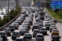 حجم ترافیک در آزاد راه های البرز نیمه سنگین است