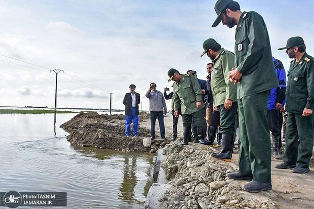 سردار جعفری: انفجار خط آهن برای سرعت بخشیدن به تخلیه آب بود