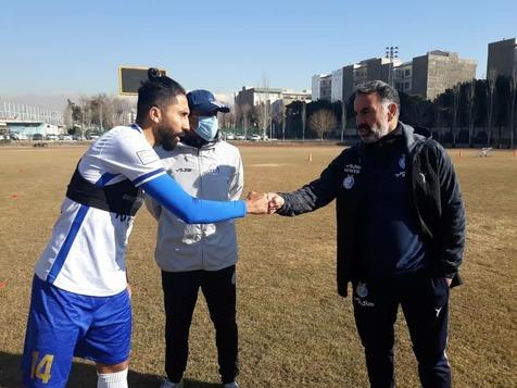 استقلال 13 بهمن/ بازگشت فرشید باقری به تمرین آبی پوشان و غیبت دیاباته+ عکس