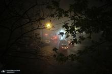 مه شبانگاهی در آسمان تهران