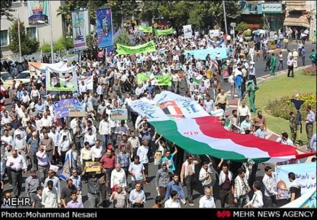 خروش آزادی قدس در آذربایجان شرقی