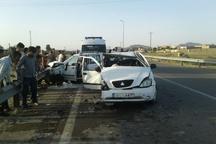 تصادف سه خودرو  در اهواز 12 مصدوم بر جا گذاشت