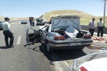 سانحه رانندگی در آزادراه همدان یک کشته و پنج مجروح برجا گذاشت