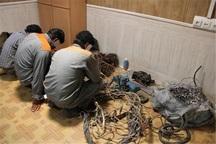 سارقان سیم و کابل دکل های مخابراتی در اشنویه دستگیر شدند
