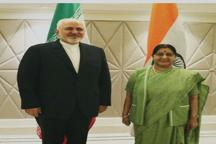گفت و گوی تلفنی ظریف با وزیر خارجه هند در مورد آخرین تحولات منطقه