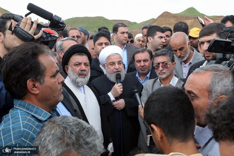 بازدید روحانی از مناطق سیل زده استان لرستان