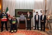 تجلیل از مدالآوران و ورزشکاران پارالمپیک در محل سفارت ایران در توکیو