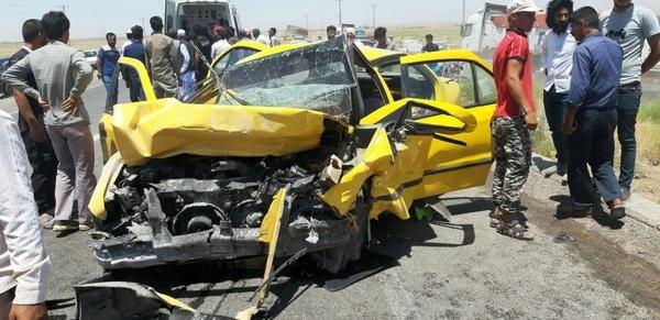 تصادفات مرگبار در تربت جام با ۱۱ کشته و مصدوم
