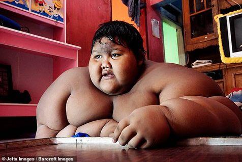 چاق ترین پسر جهان به آرزویش رسید+ عکس